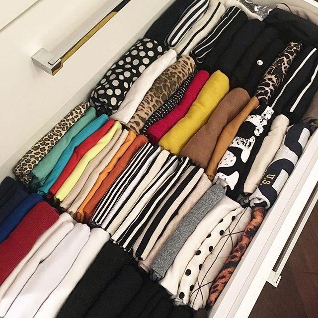 Saiba como dobrar a roupa da gaveta