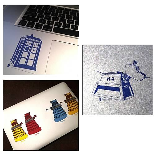 Doctor Who Set 1 Clear Vinyl Sticker 6-Pack