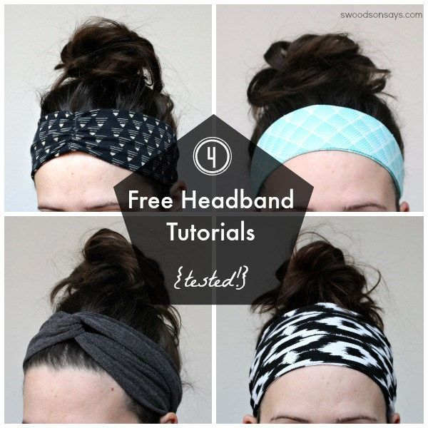 I love headbands. I think they look cute with a ponytail, they hide if I haven't showered in days and they use up fabric scraps.