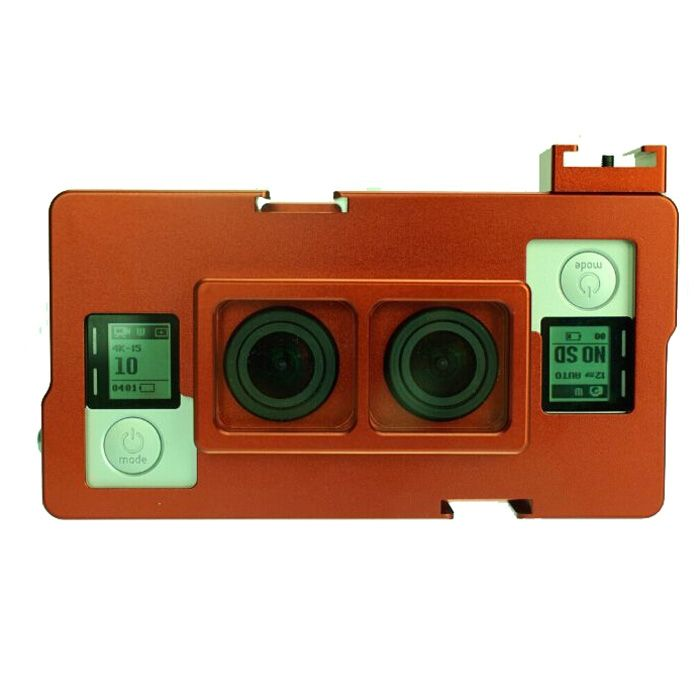 (198.56$)  Watch here - http://ai6u2.worlditems.win/all/product.php?id=32788621249 - GoPro Dual Lens Protective Housing CNC Technology GoPro 3D Case Aluminum Metal Safety Frame For Record 3D 2D Video And Photo