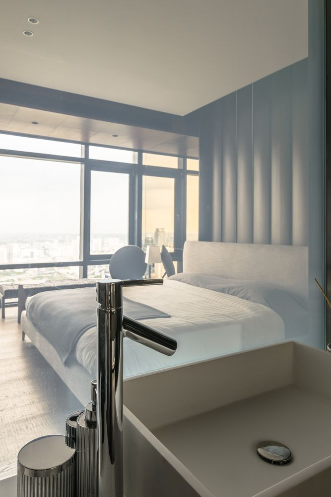 gallery of fhm bachelor apartment ongong pte ltd 22 - Schlafzimmerideen Des Mannes Grau