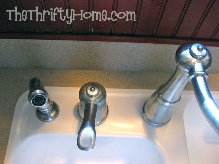 how to remove hard build up sink