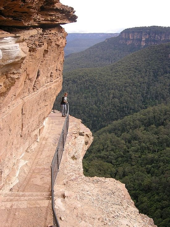 Cliff walkway, Blue Mountains Australia / / / glad that I didn't need the description to tell me where this was. Miss this place!