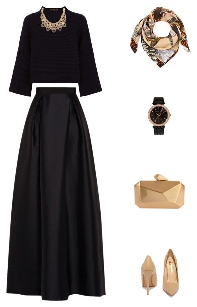 """Untitled #69"" by priliscaa on Polyvore featuring Jaeger, Palm Beach Jewelry, Alberta Ferretti, Lulu*s, Swash and MICHAEL Michael Kors"
