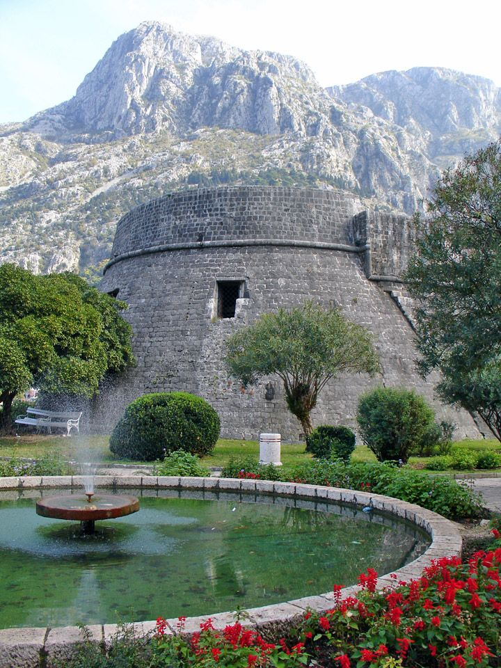 Kotor -the moat surrounding the Old Town of Kotor