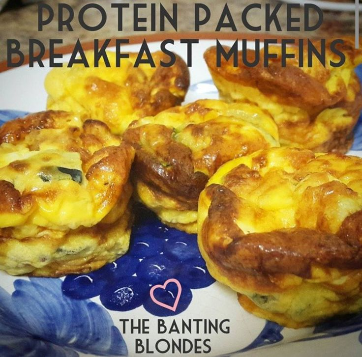 Protein Packed Breakfast Muffins - great for lunchboxes too. Low carb, banting and keto friendly