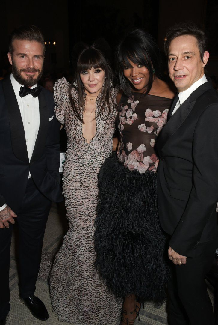 Pin for Later: These Celebs Are as Excited About Meeting David Beckham as We Would Be Annabelle Neilson, Naomi Campbell, and Jamie Hince