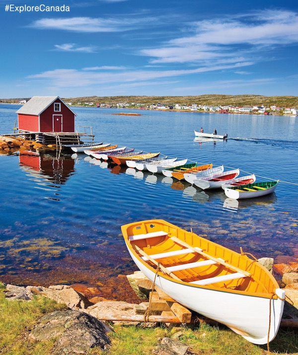 The beautiful town of Joe Batt's Arm on Fogo Island in Newfoundland, Canada | @explorecanada