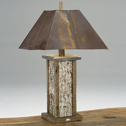 backwoods collection table lamp - Rustic Table Lamps