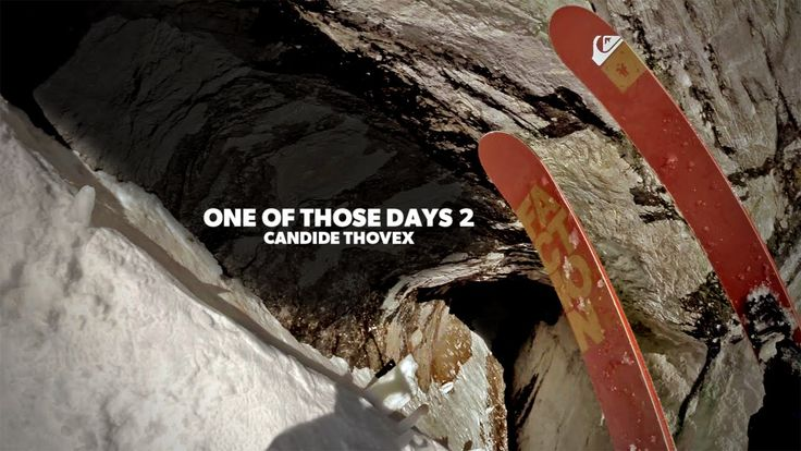 """In """"One of Those Days 2,"""" French pro skier Candide Thovex captures first-person video of an increasingly daring set of stunts during a downhill ski run, skiing through a cave, leaping off the front..."""