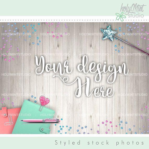 Styled Photo - Planner Background by www.HolyMintStudio.Etsy.com