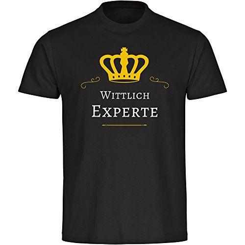 T-Shirt Wittlich Experte schwarz Herren Gr. S bis …
