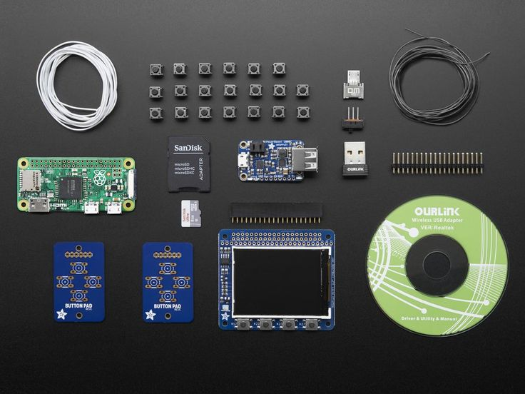 Pi GRRL Zero Parts Kit - Includes Pi Zero V1.3 - CASE NOT INCLUDED