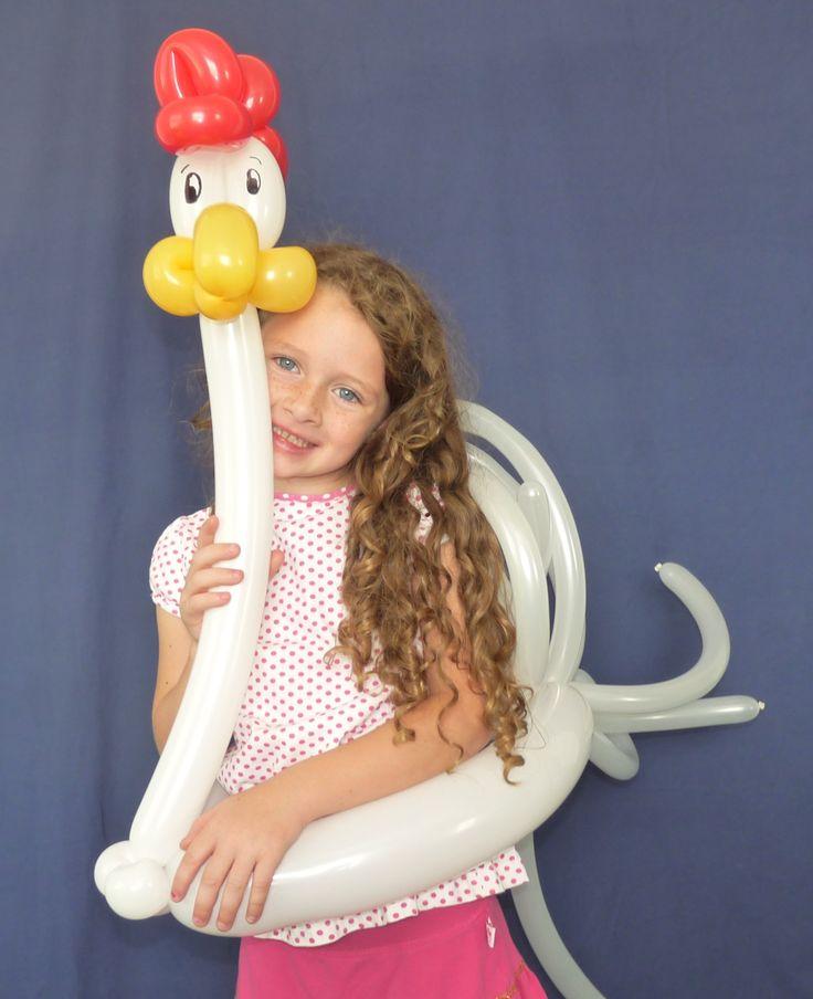 balloon wearables chicken   Chicken Rooster balloon Wearable by Arizonas Balloon Artist