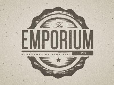 Emporium Pies logo by Scott Hill. Perfect rustic texture.