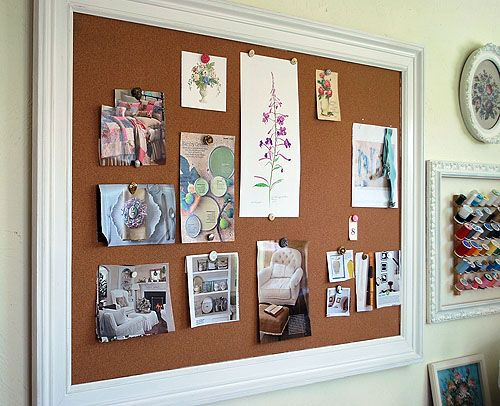 How To Make A Framed Bulletin Board Storage And Organization Pinterest Diy Ideas Home
