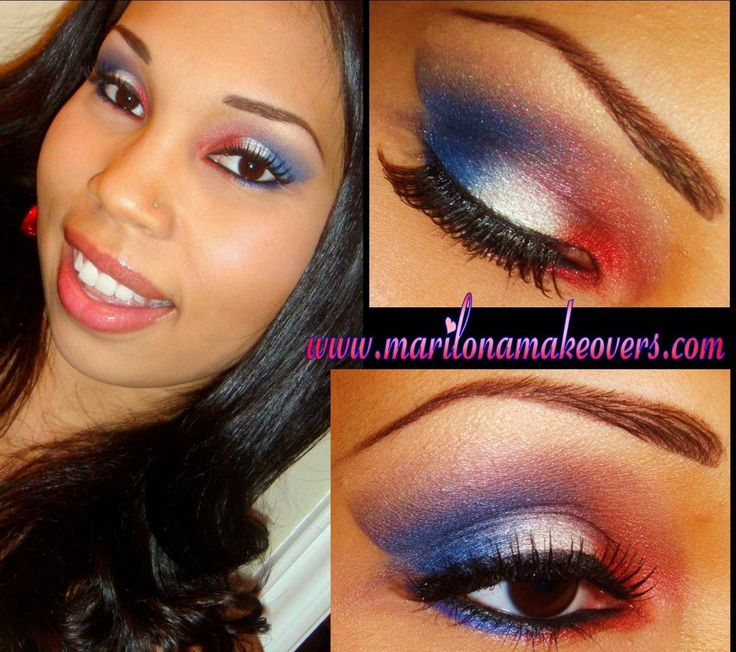 Going to try this with my Texans gear tongith!!! red, white, & blue eyeshadow