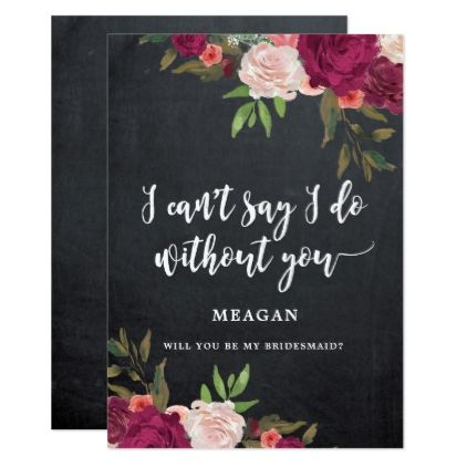 boho floral will you be my bridesmaid card - invitations personalize custom special event invitation idea style party card cards