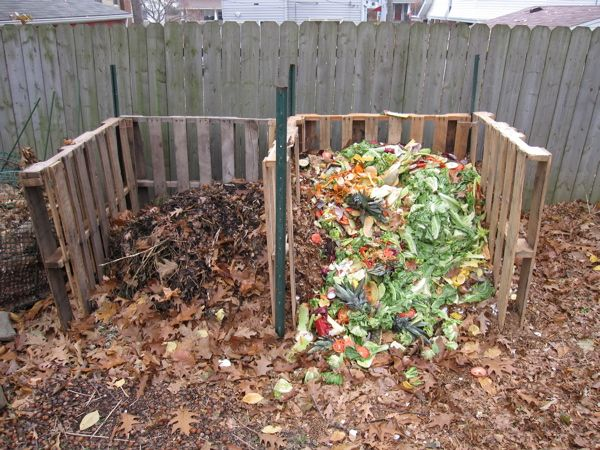 2 Bin Pallet Compost System For Colette.