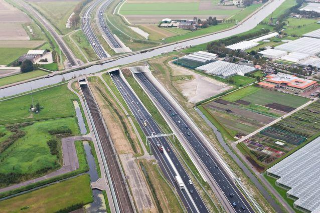 Aqueduct Ringvaart Haarlemmermeer in the Netherlands