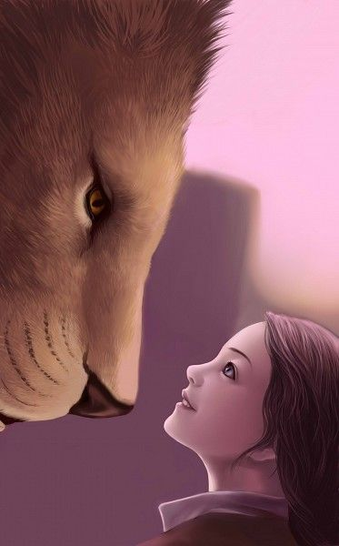 """""""Aslan,"""" said Lucy, """"you're bigger."""" """"That is because you are older, little one,"""" answered he. """"Not because you are?"""" """"I am not. But every year you grow, you will find me bigger."""""""