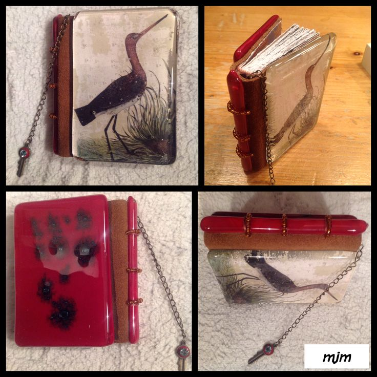 Miniature book with glass cover and spine Size 5x9 cm For Els