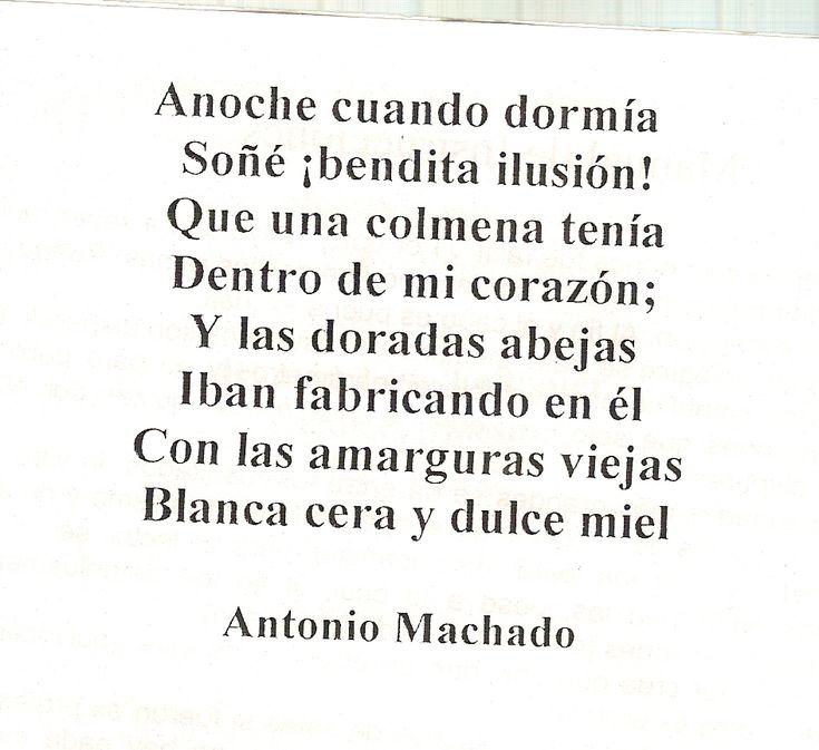 Poema de Antonio Machado, autor modernista.