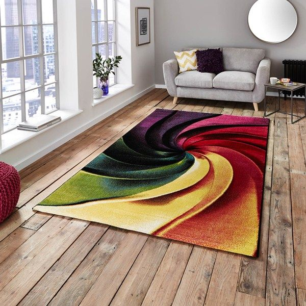 6f3412786f2 This colourful abstract design offers high levels of practicality and will  be sure to enhance any room.  Rugs  DesignerHomes