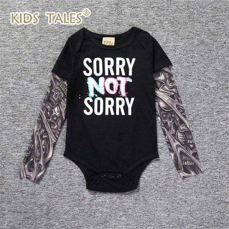 Baby Girl Clothes Newborn Bodysuit Tattoo Long Sleeve Baby