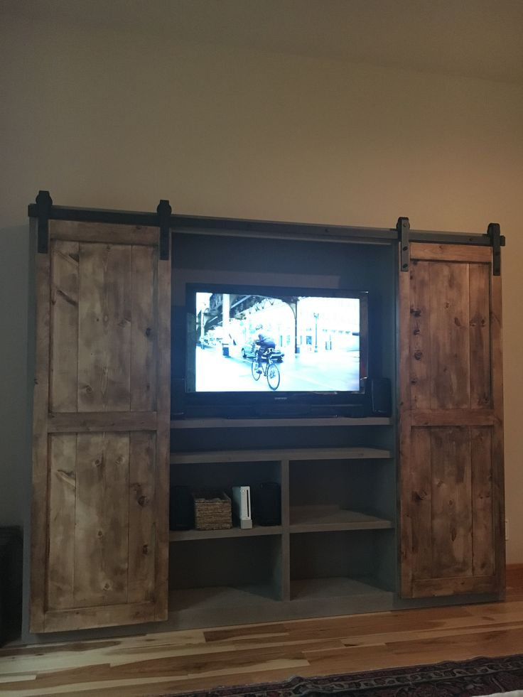 Ana White | Barn Door Entertainment Center – DIY Projects