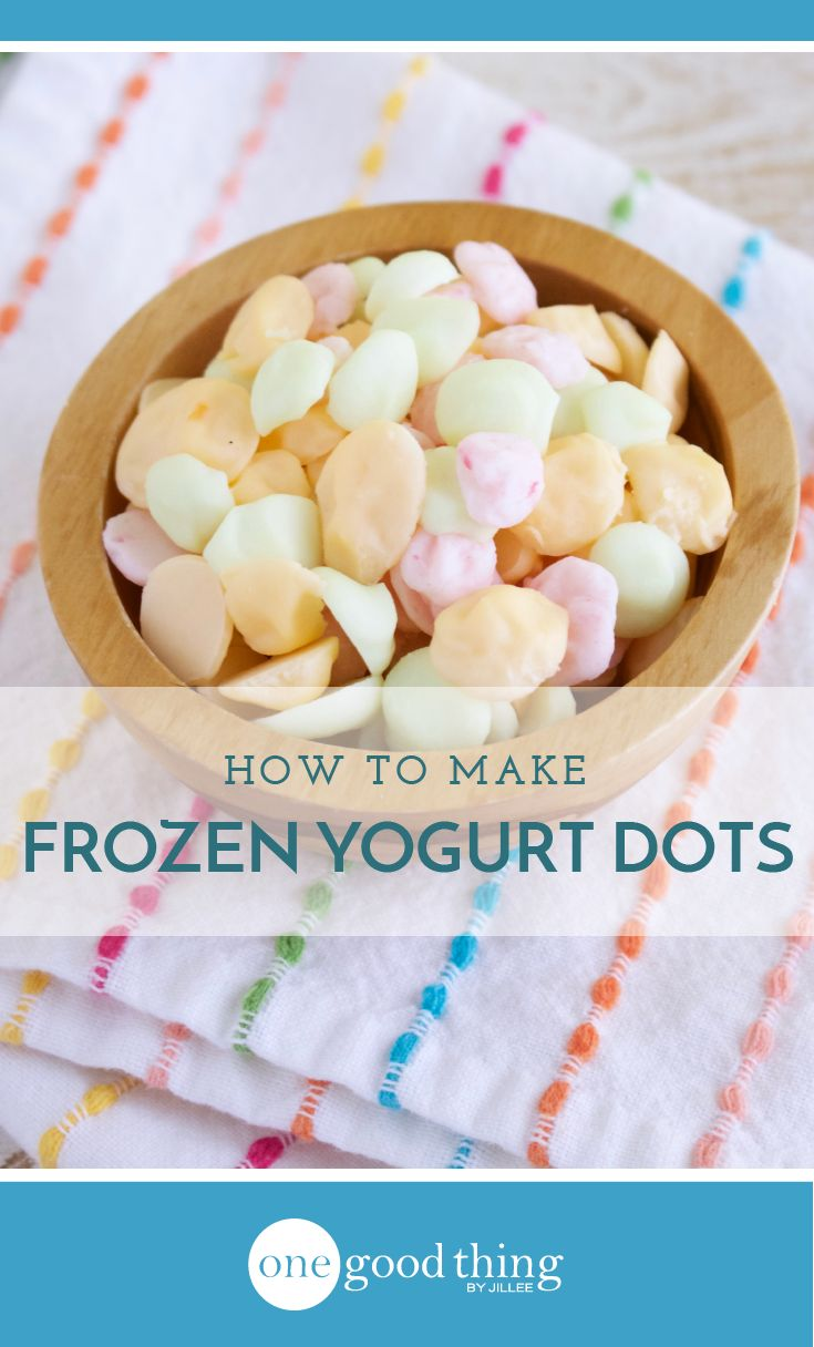 Learn how to make one of my very favorite frozen treats - frozen yogurt dots! It's a simple way to turn boring yogurt into a craveable snack or dessert.