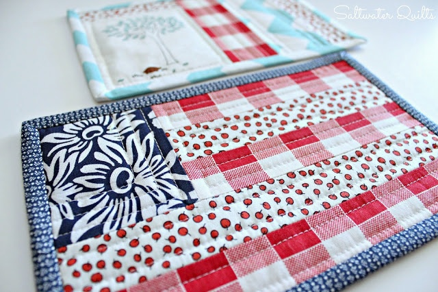 Quilt Guild Swap Ideas : Saltwater Quilts: Festive Mug Rugs patchwork Pinterest Quilt, Rugs and Mugs