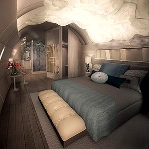 Interiors of luxury planes google search planes for Gulfstream v bedroom
