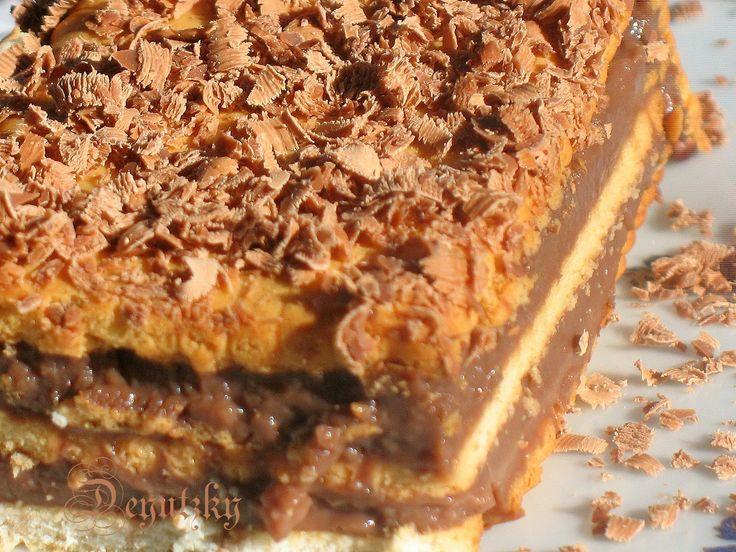 Desert cu biscuiti si crema de ciocolata - reteta cu nr. 100