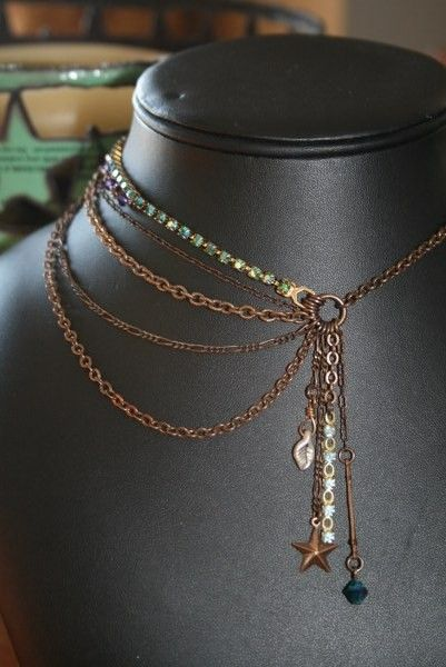 Chain Necklace with just a few dangles. Another one for the great nieces and I have a  number of fine and medium weigh chains I can use.
