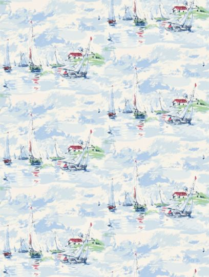 Sail Away, a feature wallpaper from Sanderson, featured in the Vintage 2 Wallpapers collection.