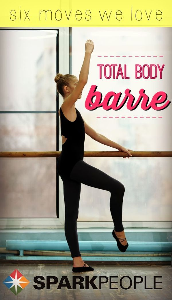 A 6-Step, Full-Body Barre Workout | via @SparkPeople Have you tried barre yet? It's a fun workout that will sculpt your legs and abs with little motions. (Step Exercises Aerobic)