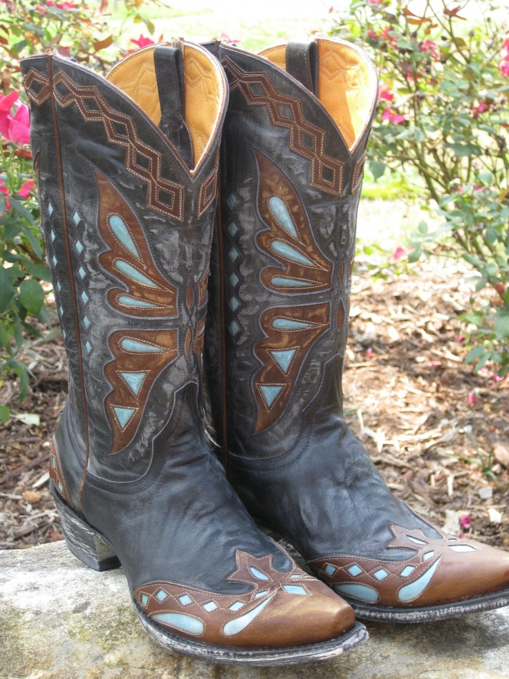 Rivertrail Mercantile - Old Gringo Monarca Vesuvio Black/Brass Cowgirl Boot, (http://www.rivertrailmercantile.com/old-gringo-monarca-vesuvio-black-brass-cowgirl-boot/)