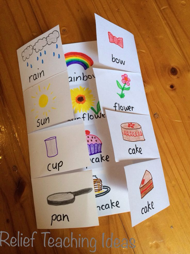 Compound word foldables.  I think children would really enjoy making these. Have them think of 4 compound words then illustrate their booklet.