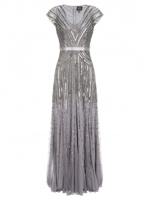The delicate twenties details on this dress scream romance and it has just   the right amount of glitz to make your bridesmaidsfeel extra special. No.1   Jenny Packham at Debenhams, £180