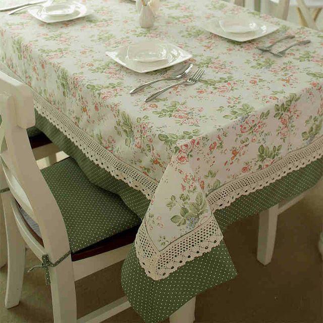Estilo francés mantel Pastoral Dot y flores Prttern de Picnic paño de tabla manteles decoración del hogar #83