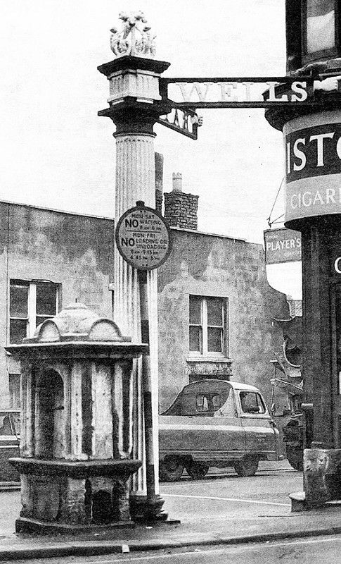 Bath & Wells finger post, Totterdown, Bristol 1966 | by brizzle born and bred