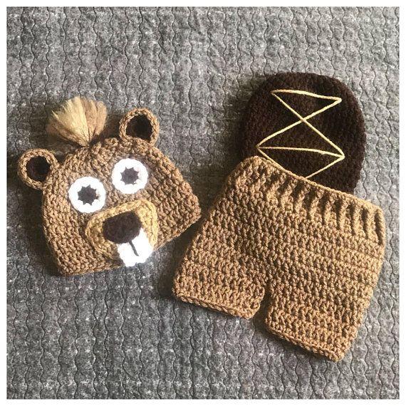 Woodland Animal Hat Newborn Photo Prop Crochet Girls Raccoon Outfit Crochet Raccoon Costume Baby Shower Gift Baby Girl MADE TO ORDER
