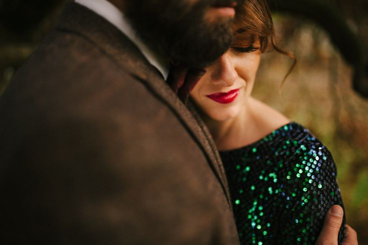 Unusual dress for a wedding, but love the green sequined dress!