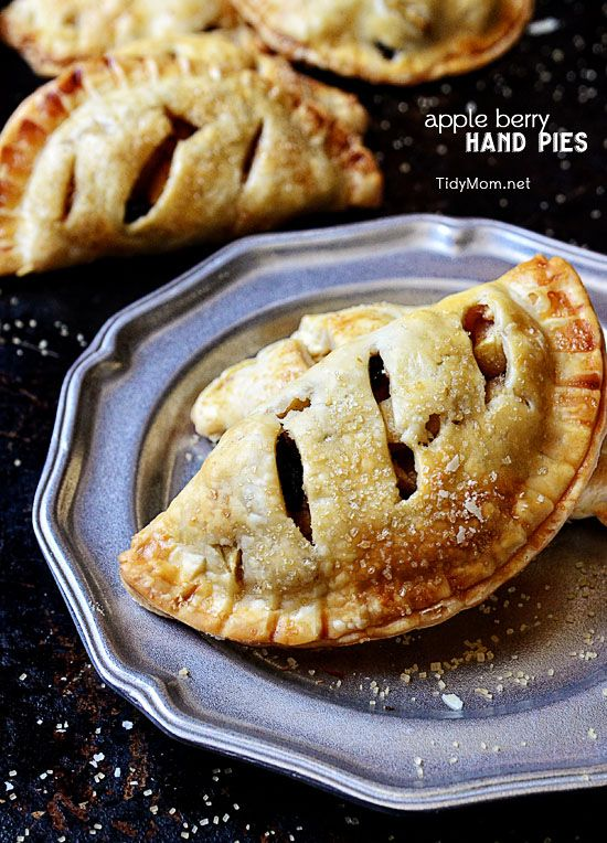 Apple Berry Hand Pies - sponsored by TidyMom! Recipe Girl Cookbook ...