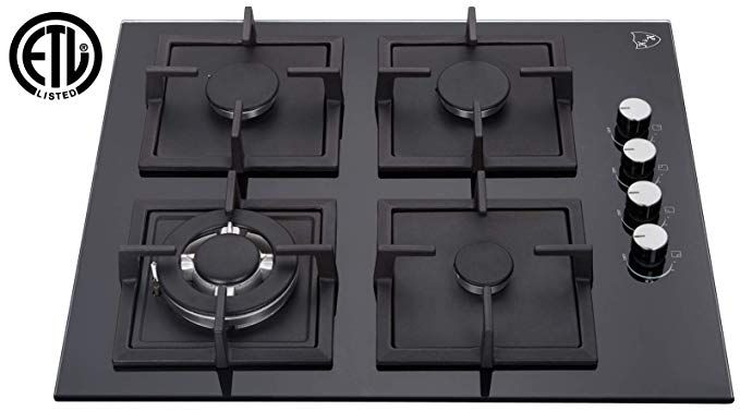 K H 4 Burner 24 Natural Gas Glass Cooktop 4 Gcw Cool Kitchens Glass Cooktop Kitchen Tops