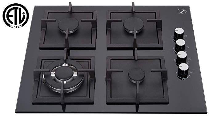 K H 4 Burner 24 Natural Gas Glass Cooktop 4 Gcw Cool Kitchens