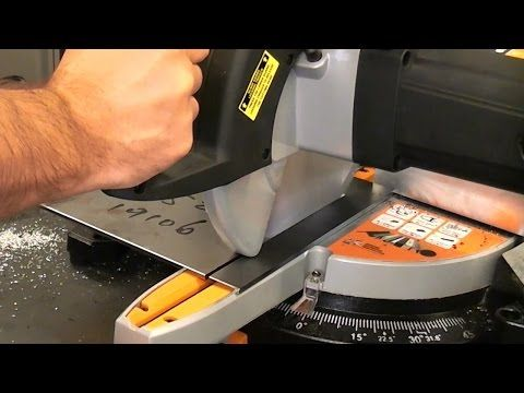 Evolution rage 3 sliding mitre saw review - YouTube