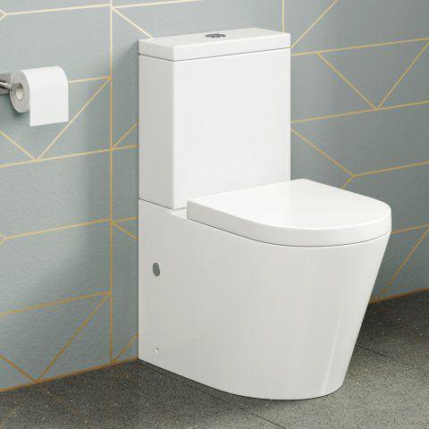 Lyon II Close Coupled Toilet and Cistern inc Luxury Soft Close Seat  - soak.com