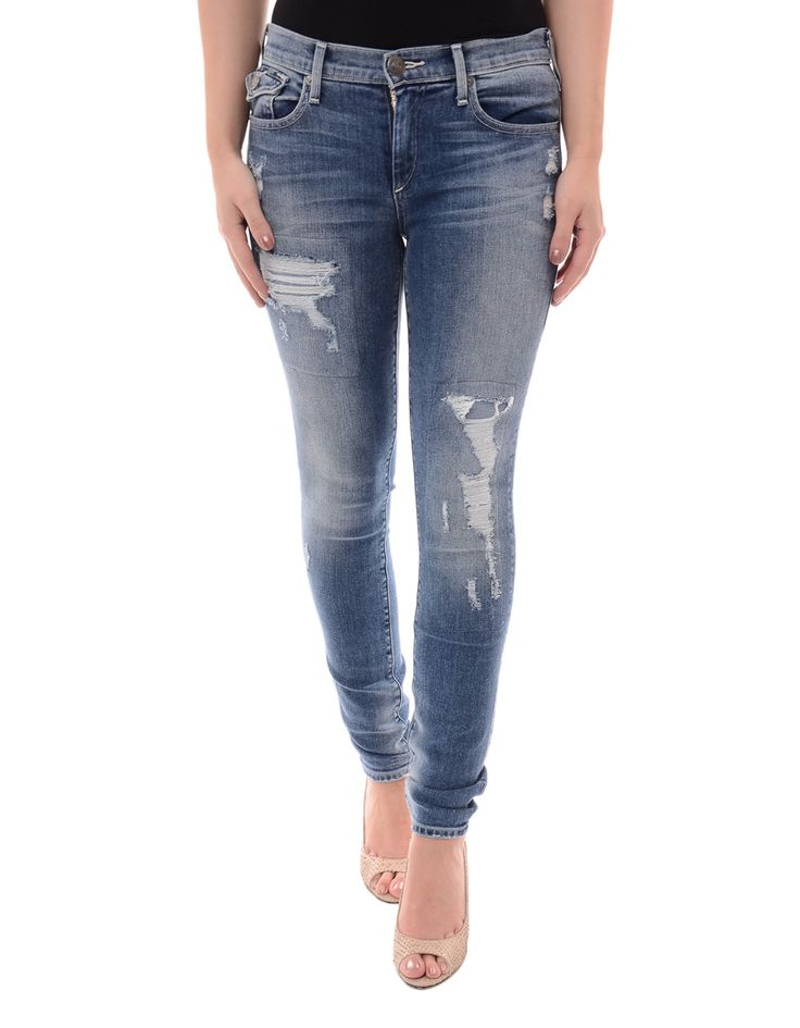True Religion Distressed Halle Dusty Bleachers Skinny Jean | Accent Clothing